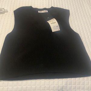 Black Zara sweater vest